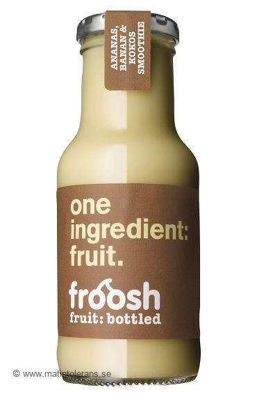 Inte mjölk i Froosh Ananas, banan och kokos