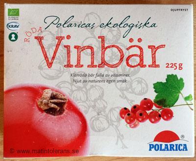 Frysta röda vinbär