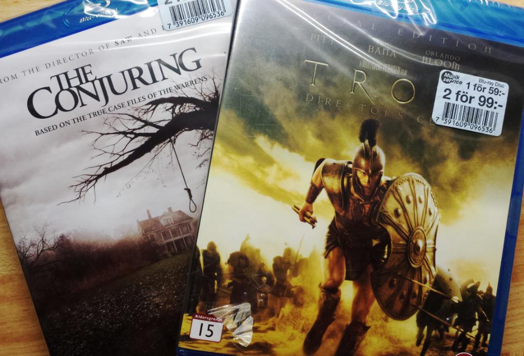 Blogginlägg: The Conjuring och Troja med Brad Pitt – helgens filmer?