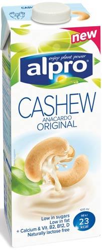 Mattips: Alpro lanserar gluten-, mjölk- och laktosfri Cashew dryck