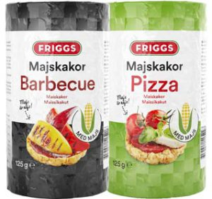 Friggs majskakor, pizza och barbecue