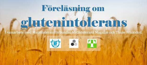 Nyhet: Missa inte föreläsningen om glutenintolerans på söndag i Malmö