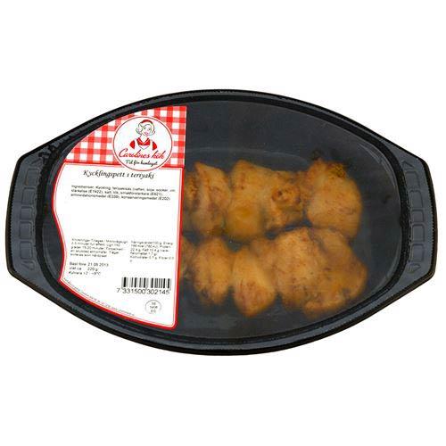 Matvarning: Senap och selleri i kycklingspett Teriyaki ifrån Carolines kök