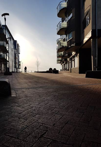 Blogginlägg: Solig, vindstilla, kvällspromenad i solen ger en känsla av vår