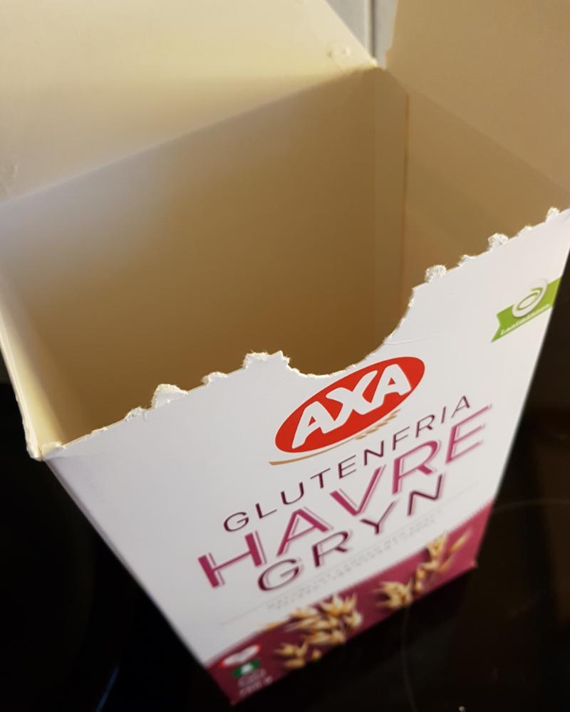 Nyhet: Leverans problem på Axa glutenfria havregryn