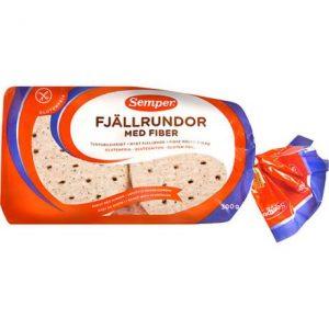 Semper Fjällrundor med Fiber, glutenfritt bröd
