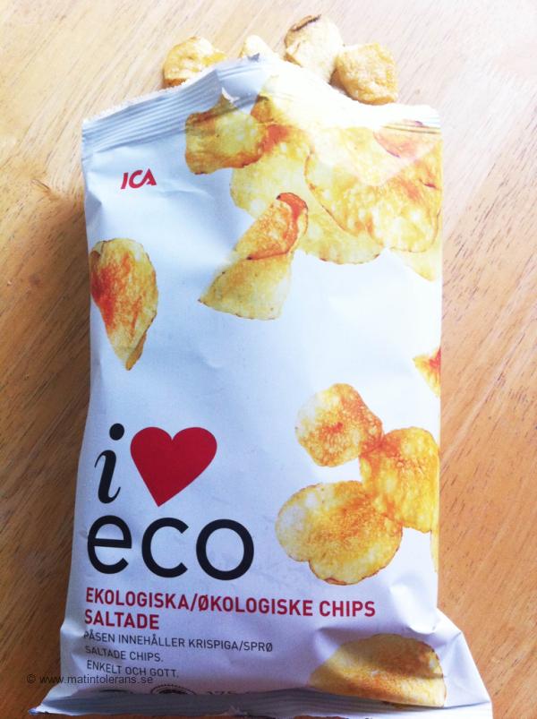 Glutenfria, sädesslagsfria, mjölkfria chips ifrån ICA I love ECO