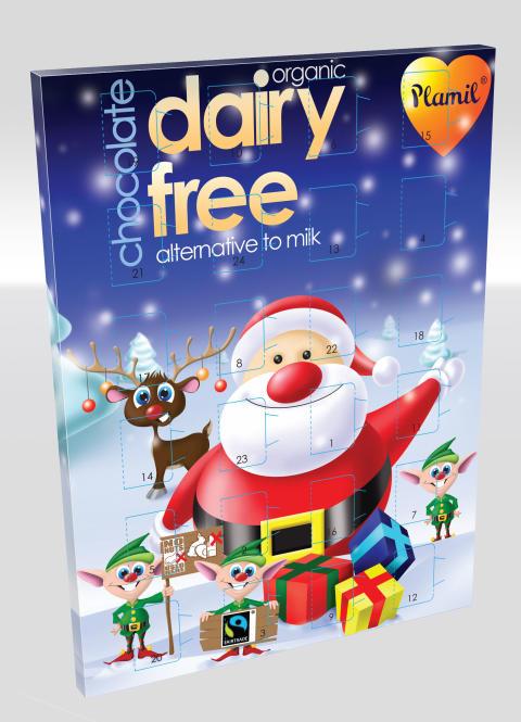 Mattips: Chokladjulkalender för laktosintoleranta och mjölkallergiker