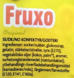 Fruxo innehållsförteckning