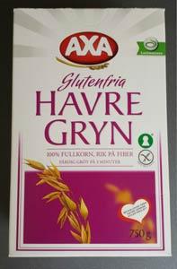 Test: Axas glutenfria havregryn