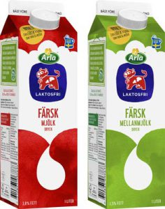 Arla laktosfri lågpastöriserad mjölk