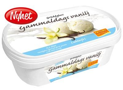 Mattips: Triumf glass lanserar laktosfri gammaldags vanilj