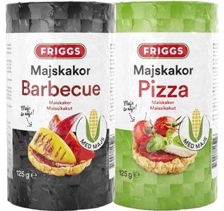 Mattips: Friggs lanserar glutenfria majskakor med pizza och barbecue smak