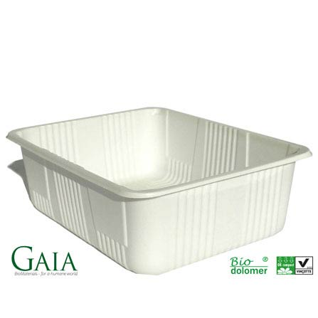 Tårtkartonger, plastbestick och tråg kan vara gjorda på majsstärkelse
