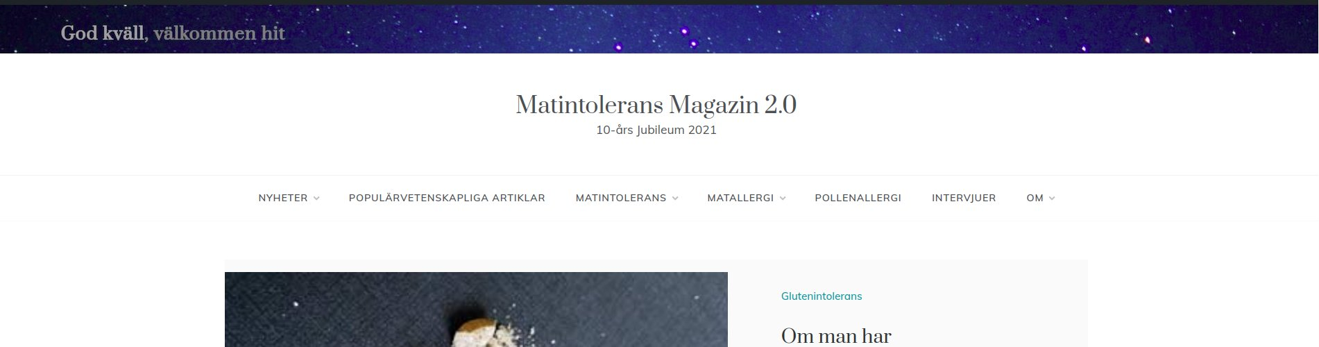 Nyhet: Matintolerans Magazin 10-års jubileum